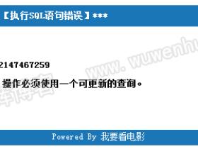 IIS登录后台提示错误号:-2147467259