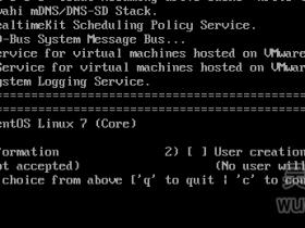 CentOS7安装完毕后重启提示Initial setup of CentOS Linux 7 (core)