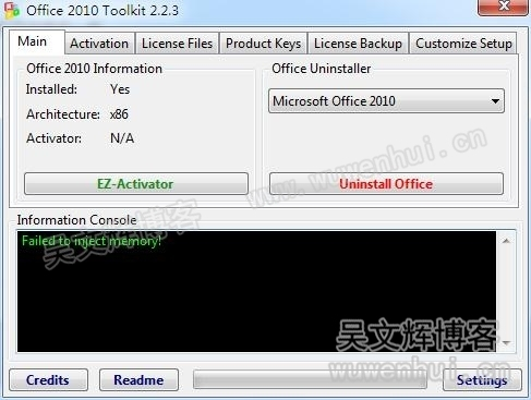 Office 2010 toolkit failed to inject memory - Mini kms activator office 2010 download ...
